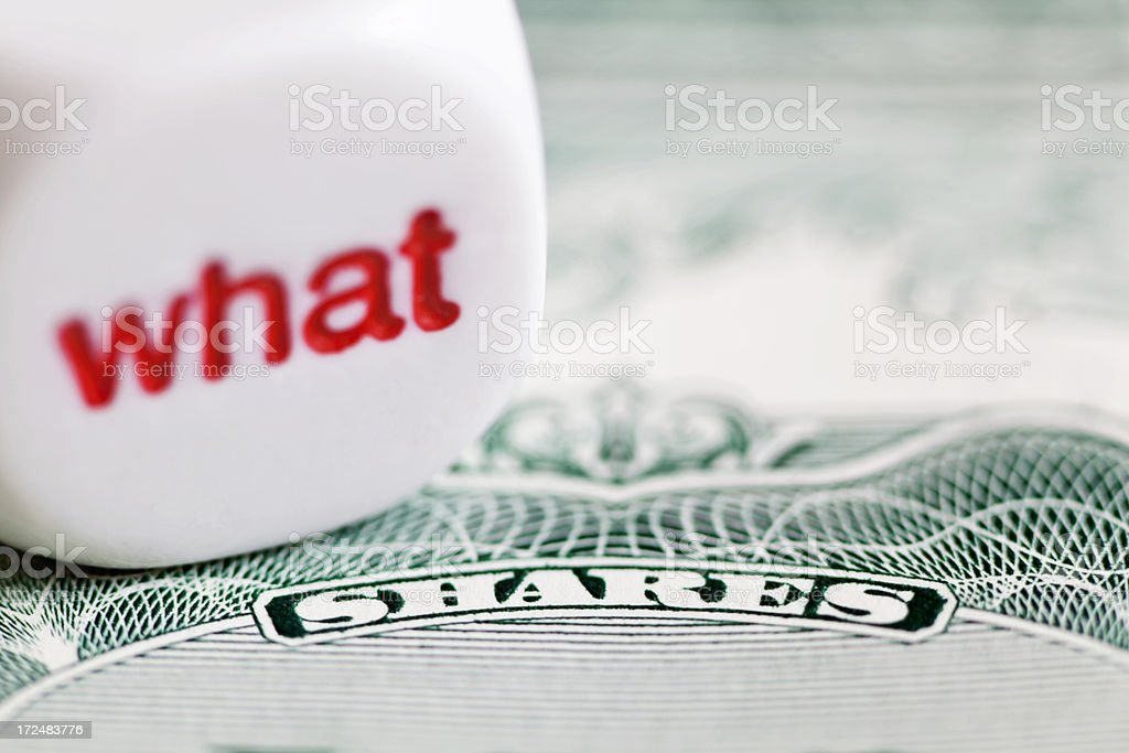 What Shares do I Buy royalty-free stock photo