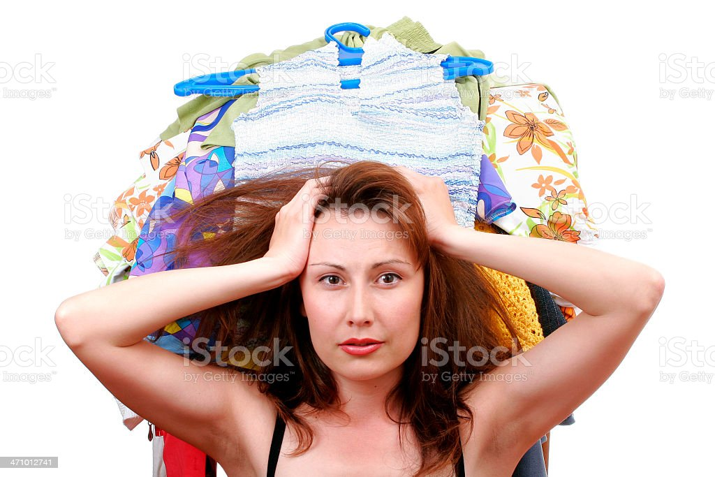 What to put on? royalty-free stock photo