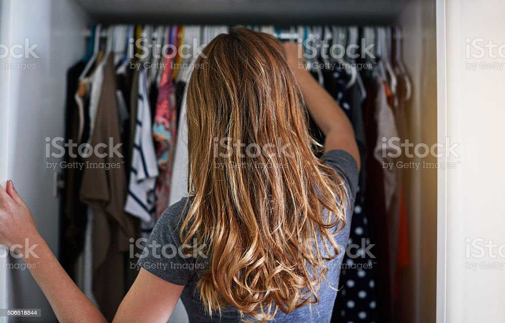 What to wear?! stock photo