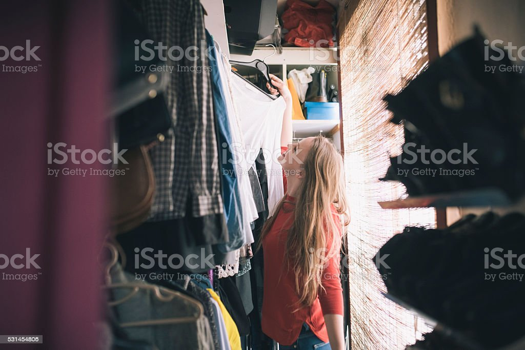 What to wear? stock photo
