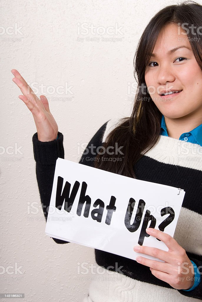 What up? - Sign Series royalty-free stock photo