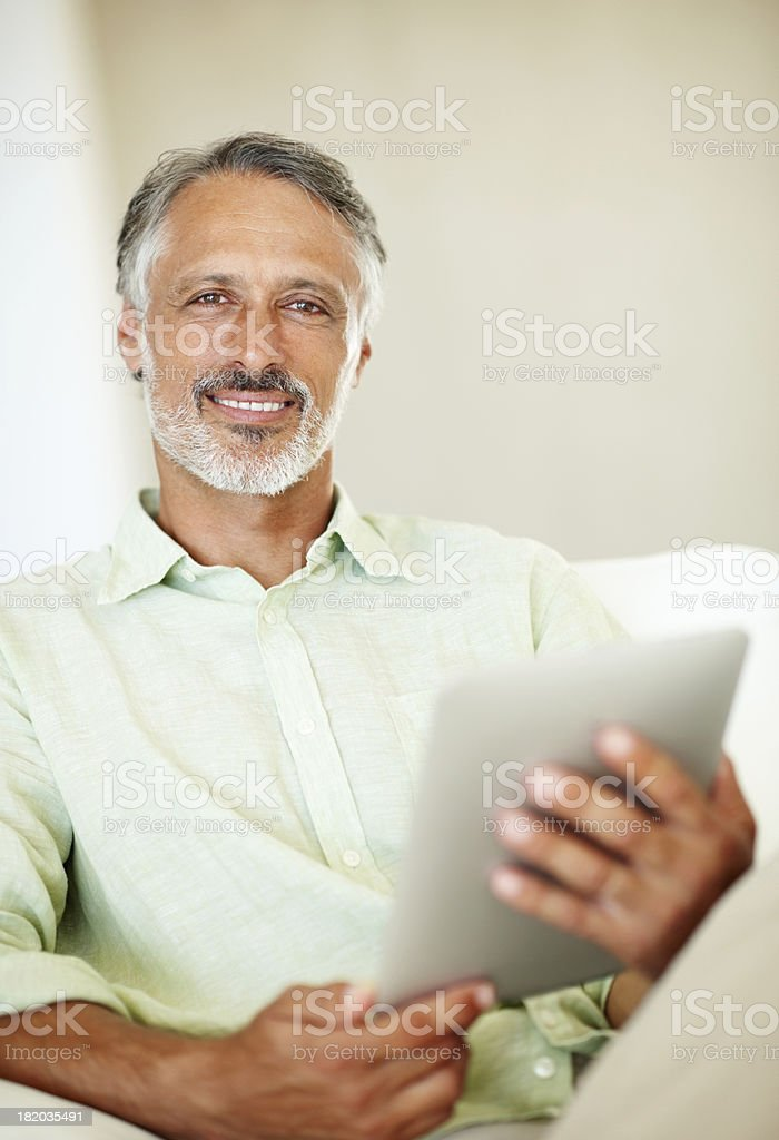 What would I do without my tablet royalty-free stock photo