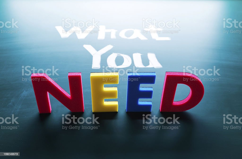 What you need concept royalty-free stock photo