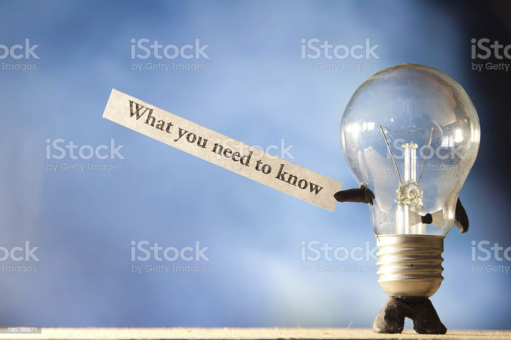 What You Need To Know stock photo