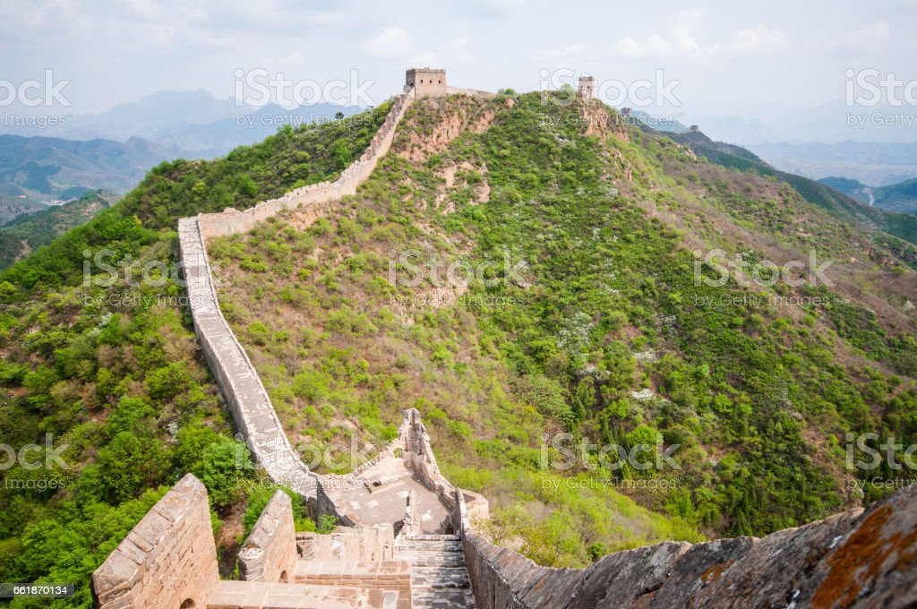 Whatch tower of great wall by Simatai in China stock photo
