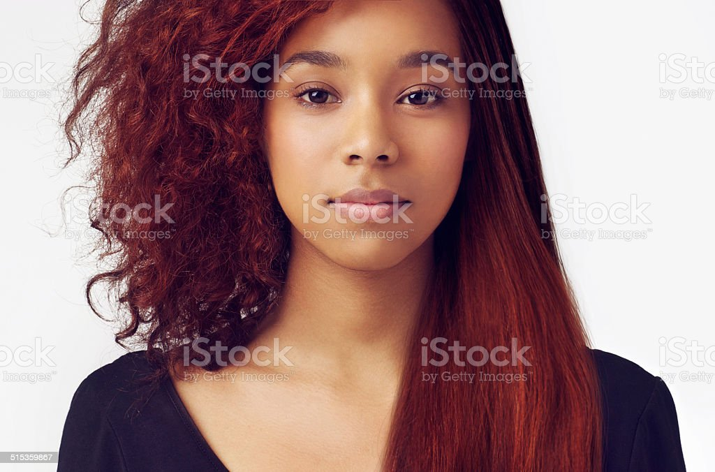 Whatever the hairstyle - she always look good! stock photo