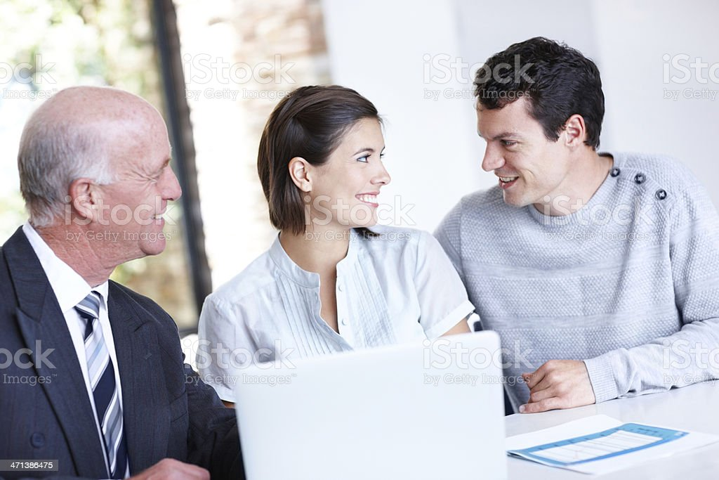 Whatever we decide, we'll do it together royalty-free stock photo
