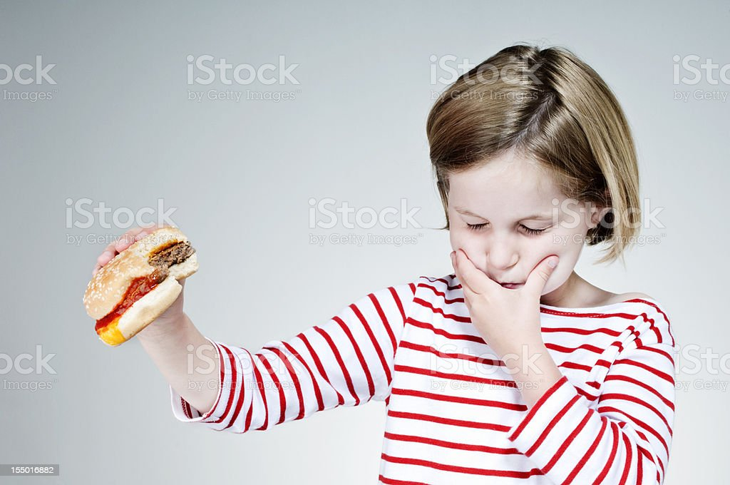 What's In That Burger? stock photo