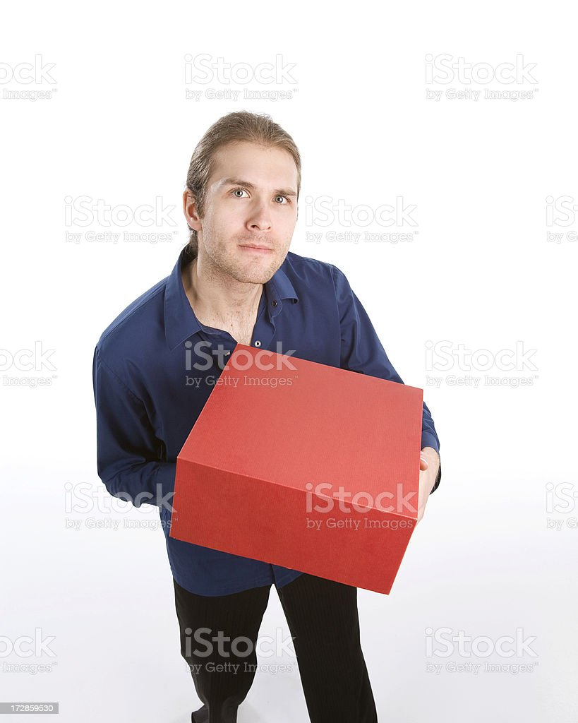 What's in the box stock photo
