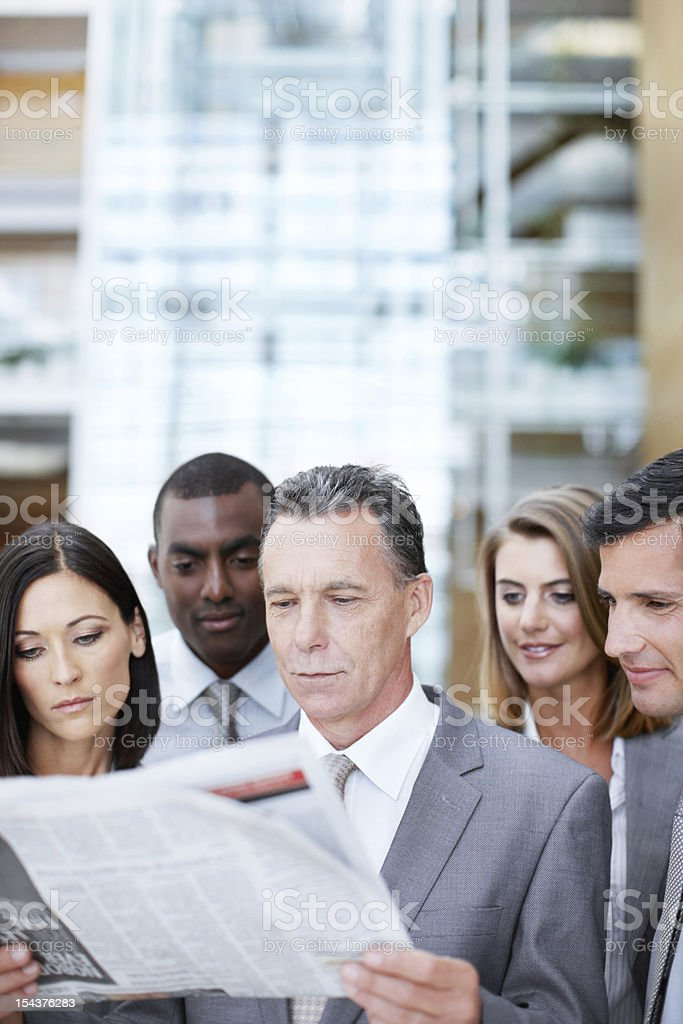 What's news in the businessworld today? stock photo