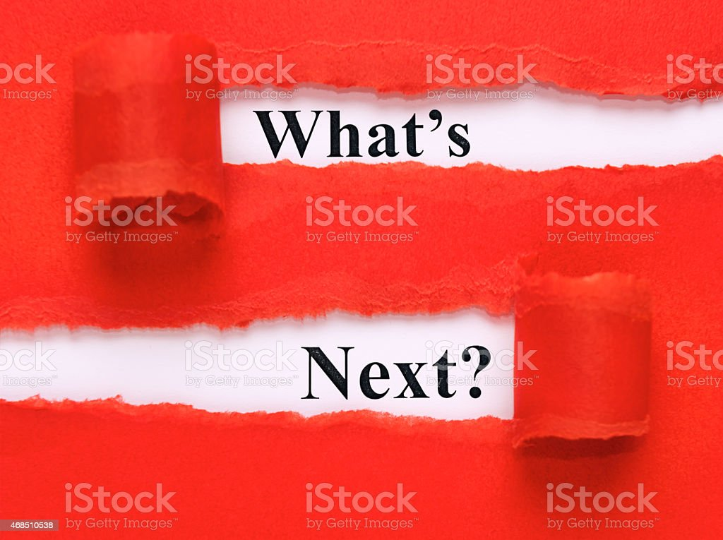 What's next under torn paper stock photo