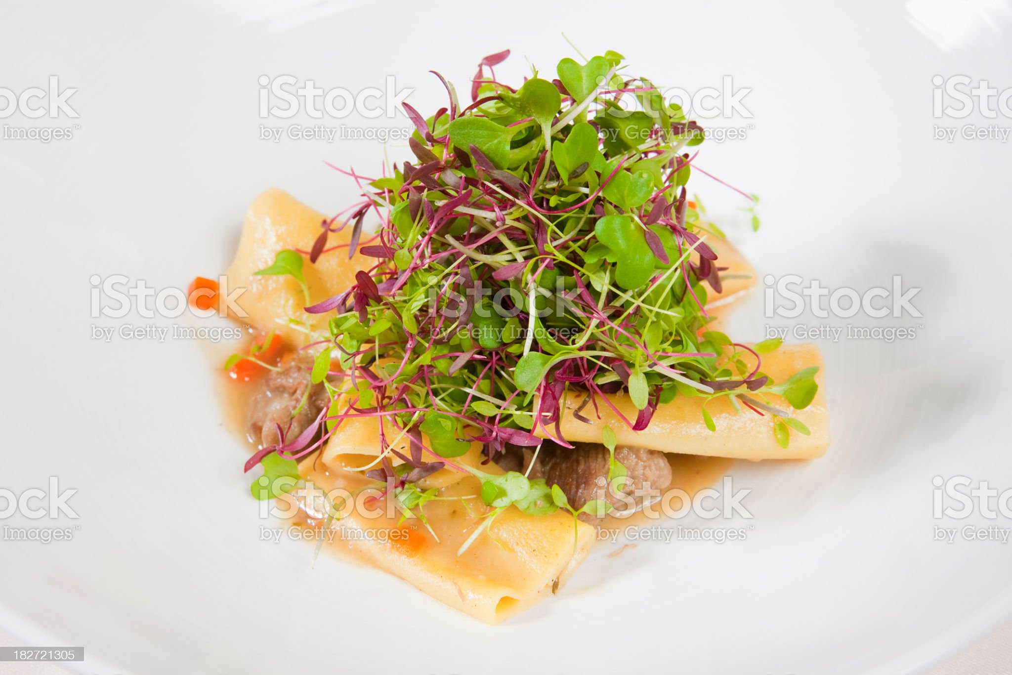 What's on the Menu? - Paccheri royalty-free stock photo