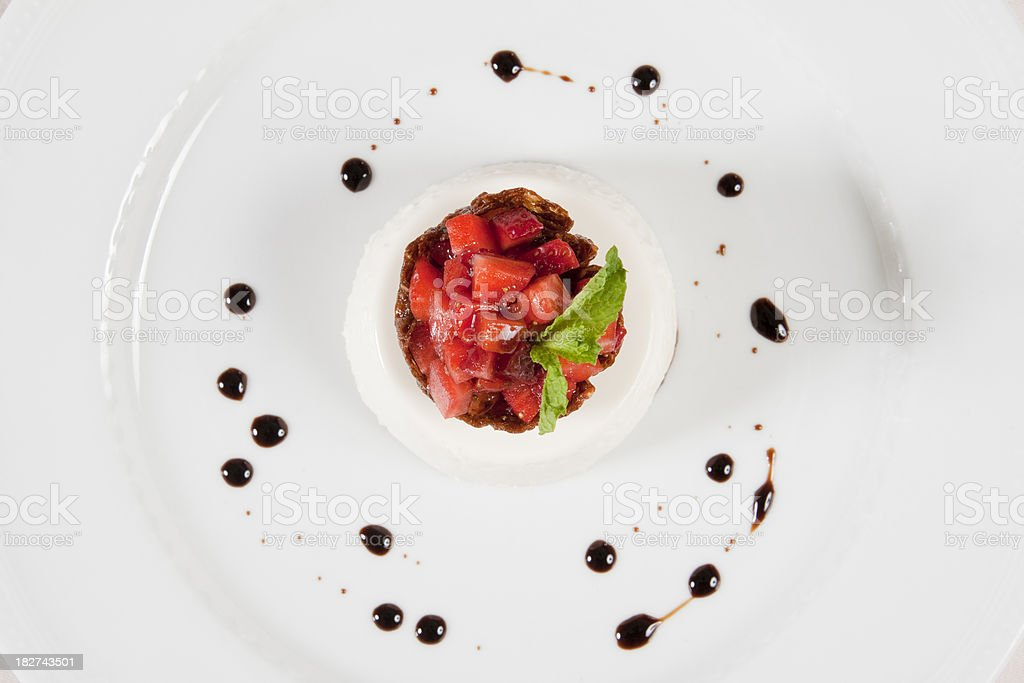 What's on the Menu - Strawberry Custard royalty-free stock photo