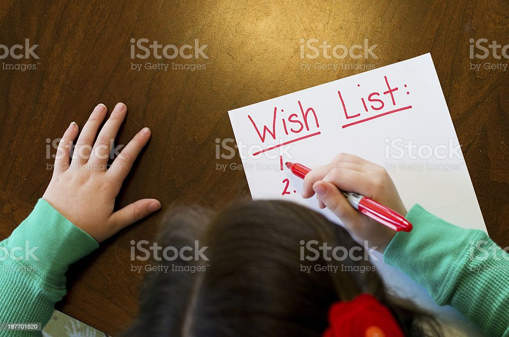What's on your wish list? stock photo