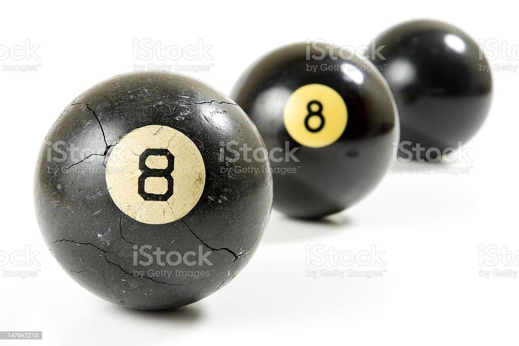 Was wirklich hinter der Acht-Ball Lizenzfreies stock-foto