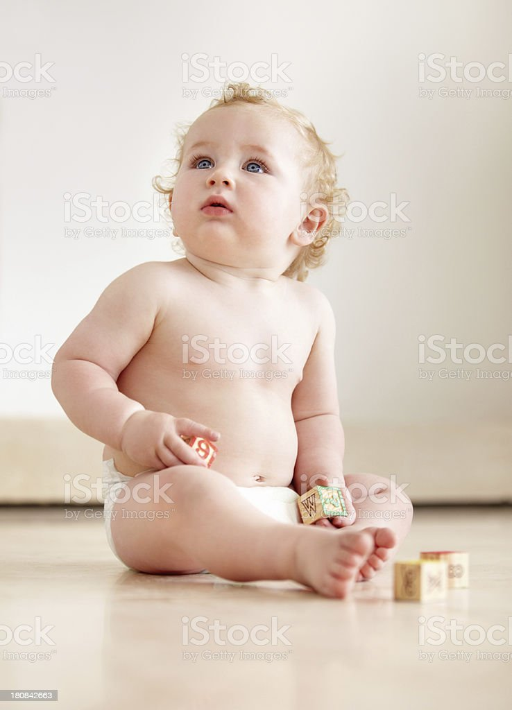 What's that up there? - Childhood curiousity royalty-free stock photo