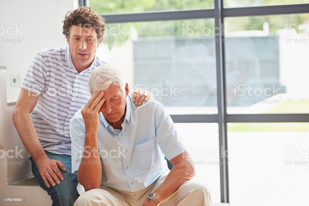 What's the matter, Dad? stock photo