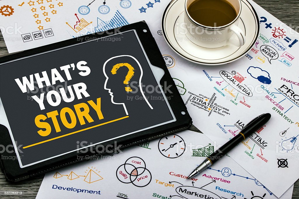 what's the story stock photo
