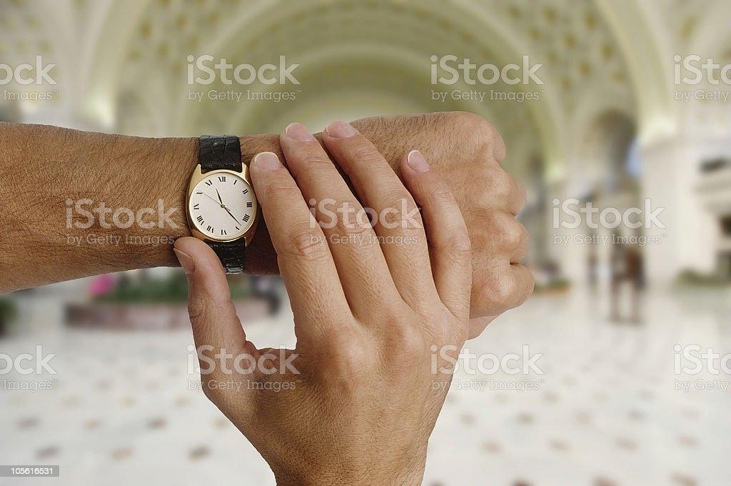 ¿Cuál es el tiempo? foto de stock libre de derechos