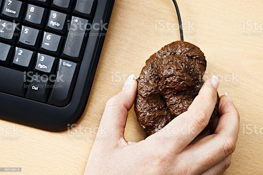 What's this sh1t on my computer? I can't handle it! royalty-free stock photo