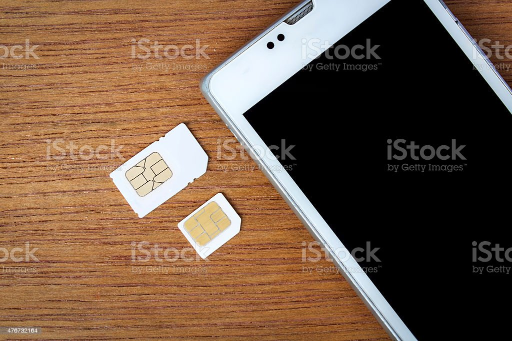 What's type of sim card can use on your mobile stock photo