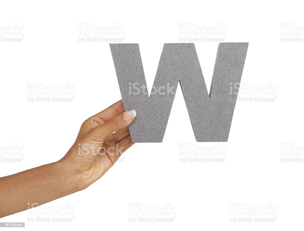 What's with this 'W' royalty-free stock photo