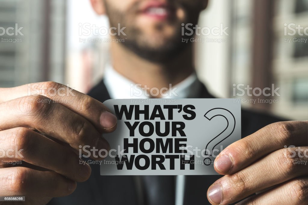 Whats Your Home Worth? stock photo