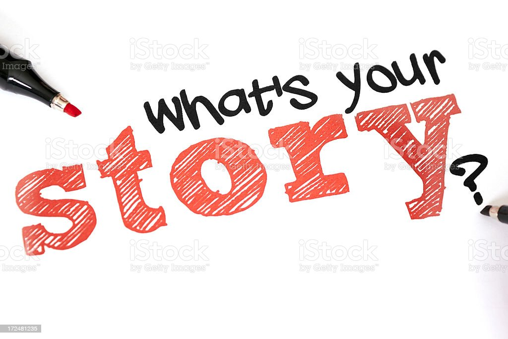 What's your story? stock photo