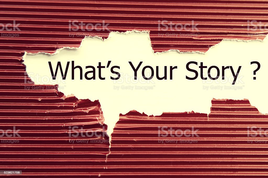 What's your story stock photo