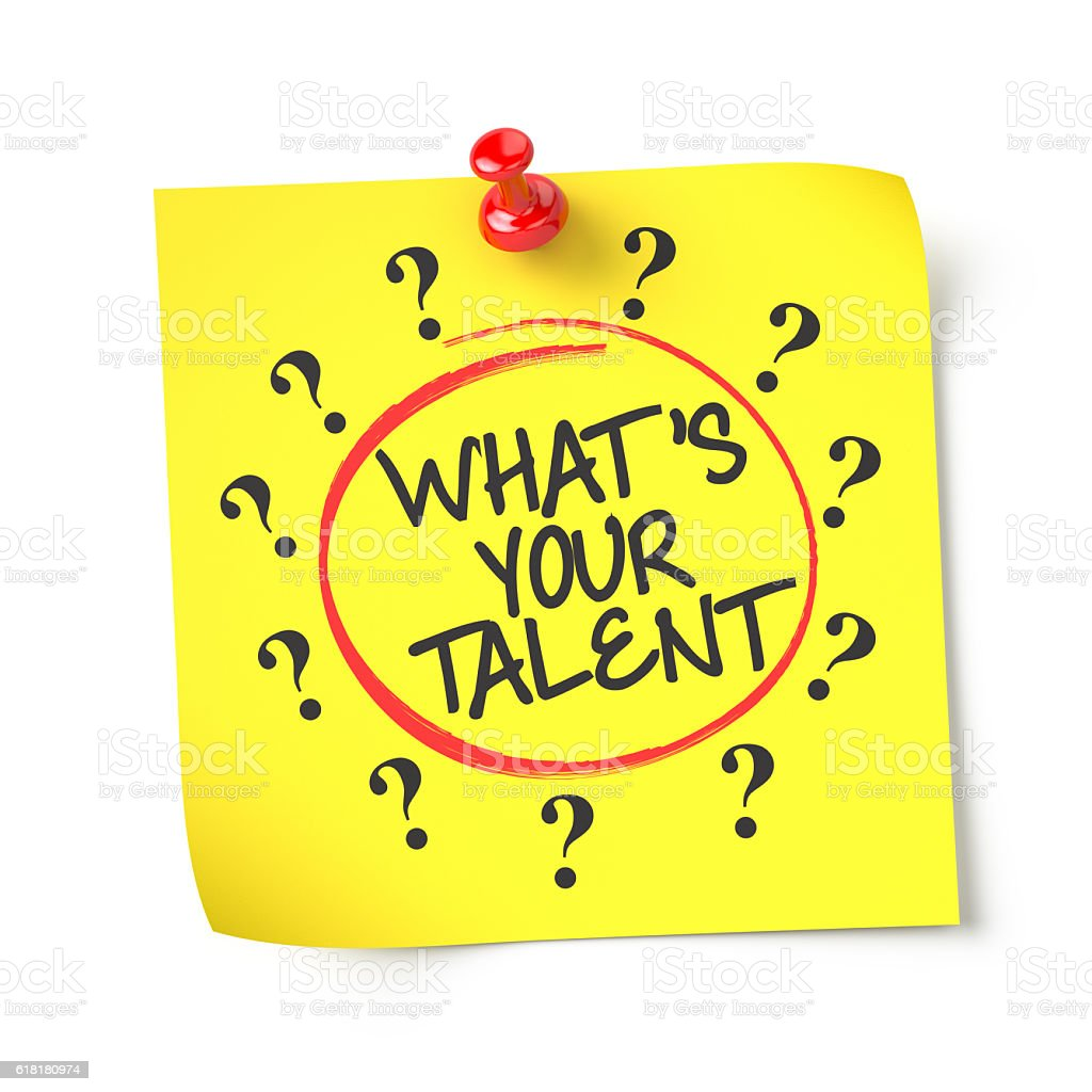 What's your talent stock photo