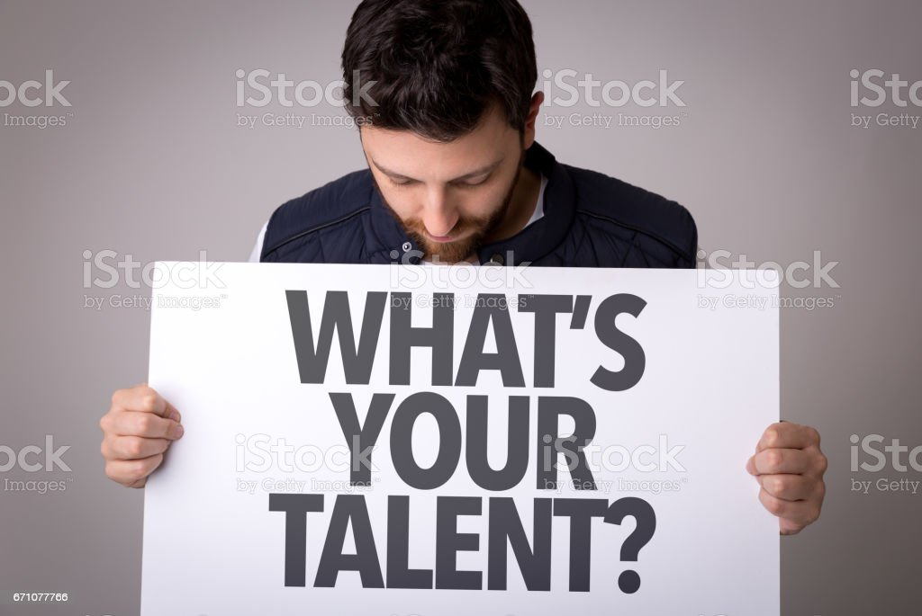 Whats Your Talent? stock photo