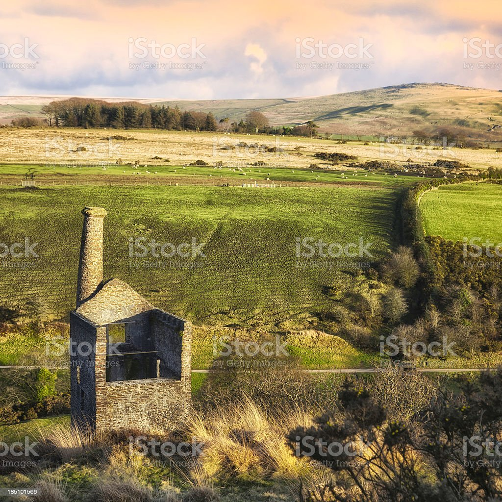 Wheal Betsy tin mine, Dartmoor royalty-free stock photo