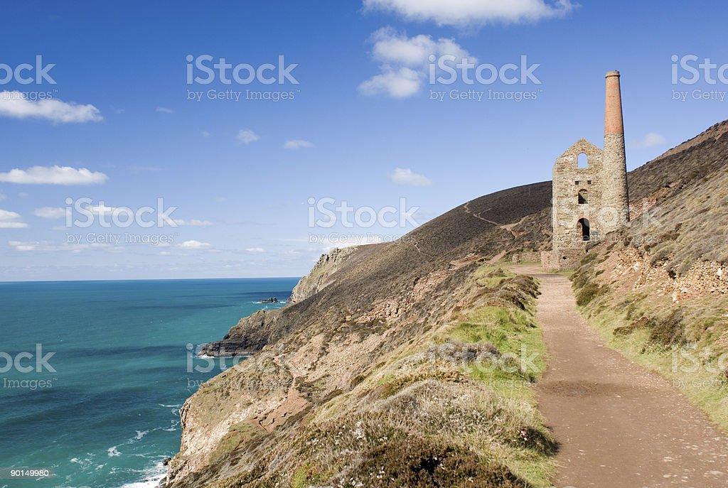 Wheal Coates, Cornwall, England stock photo