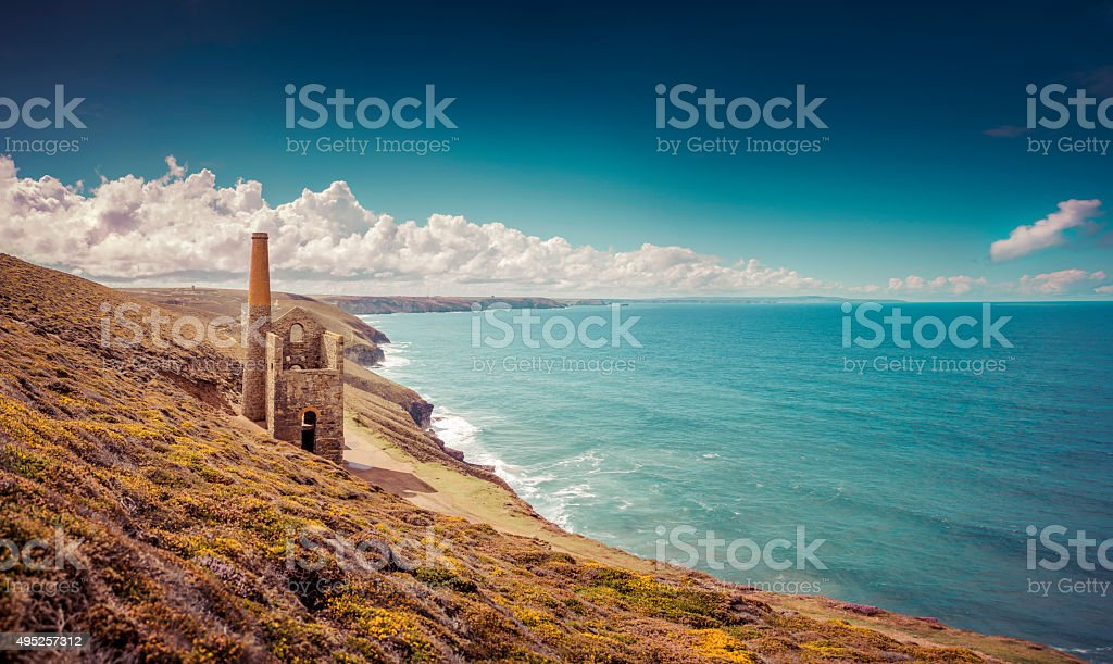 Wheal Coates Mine stock photo