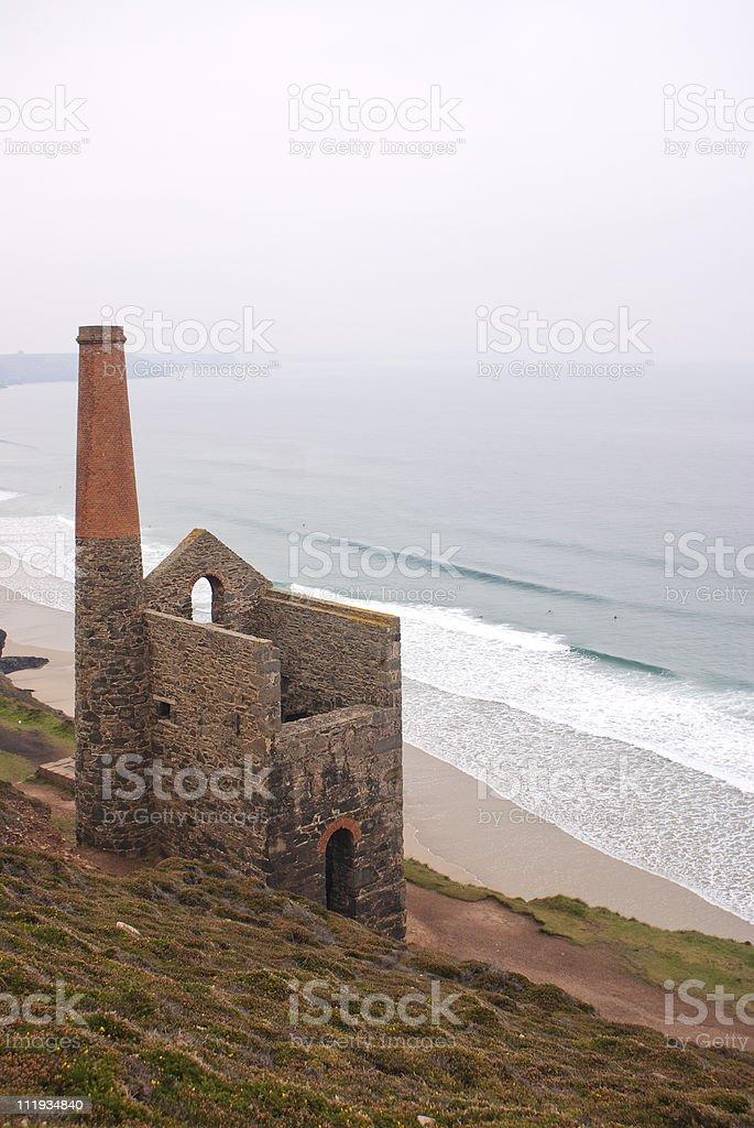 Wheal Coates,tin mine ,cornwall,england stock photo