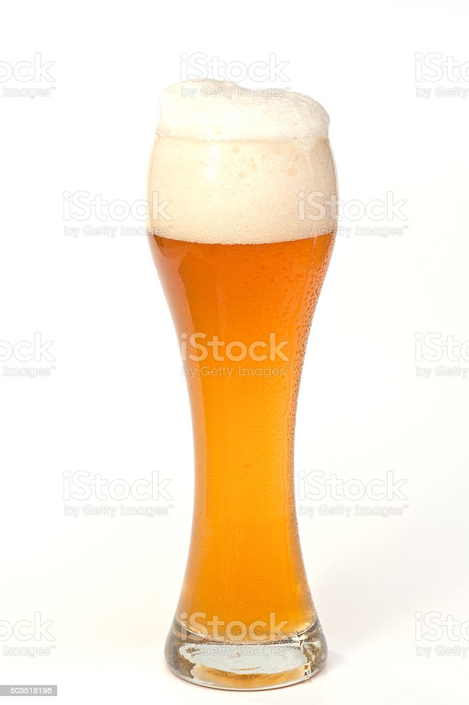 Wheat Beer (Hefeweizen) stock photo