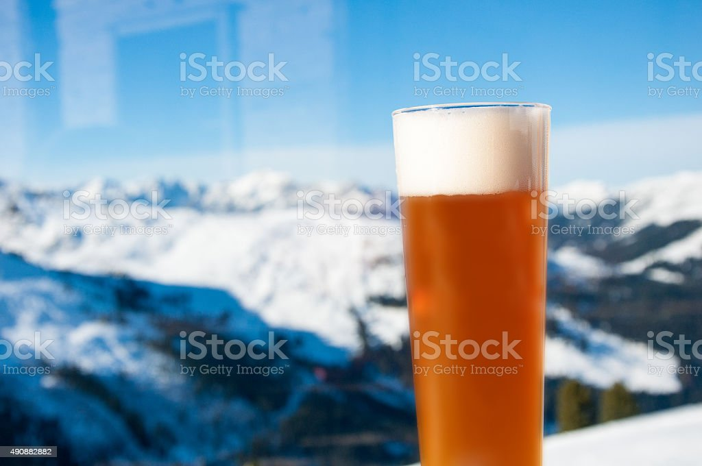 Wheat Beer with panorama stock photo
