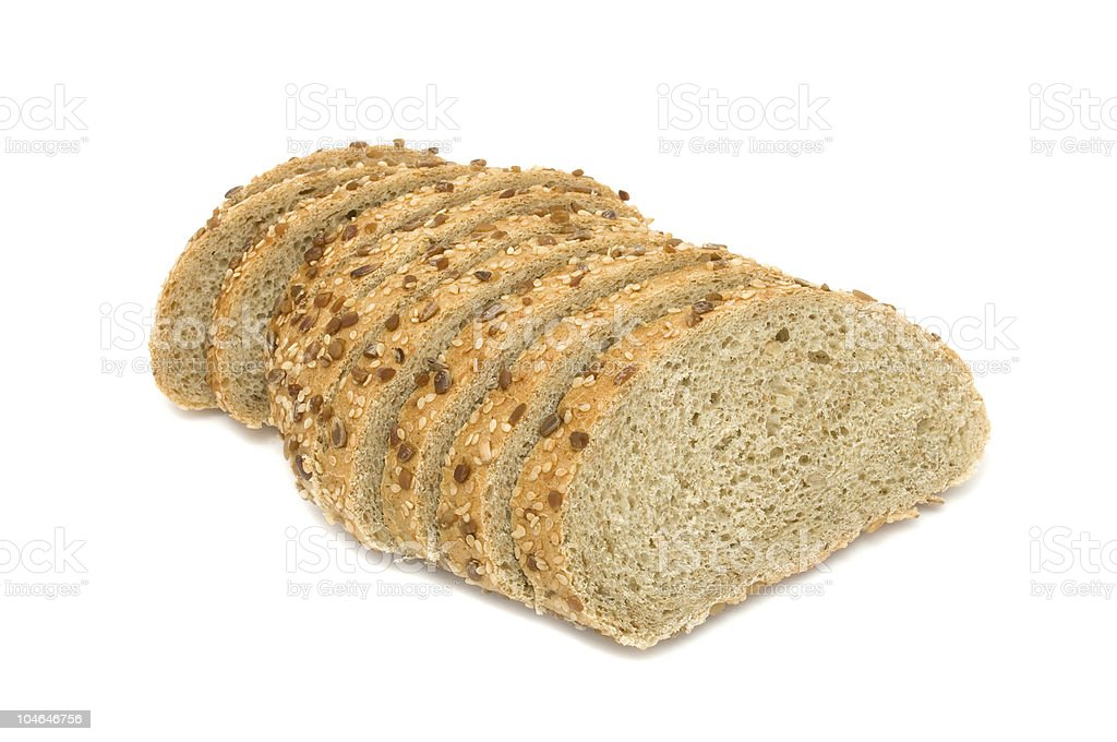 Wheat Bran Bread with Seeds royalty-free stock photo