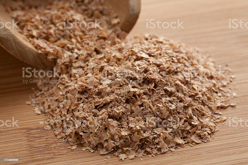 Wheat Bran stock photo