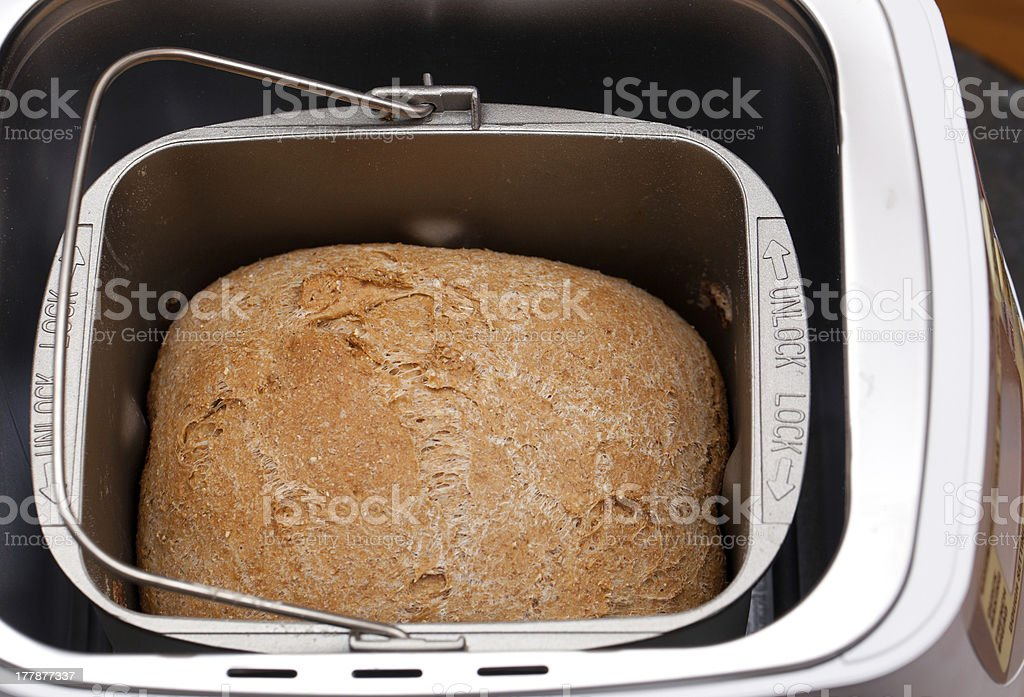 Wheat bread baked in machine royalty-free stock photo