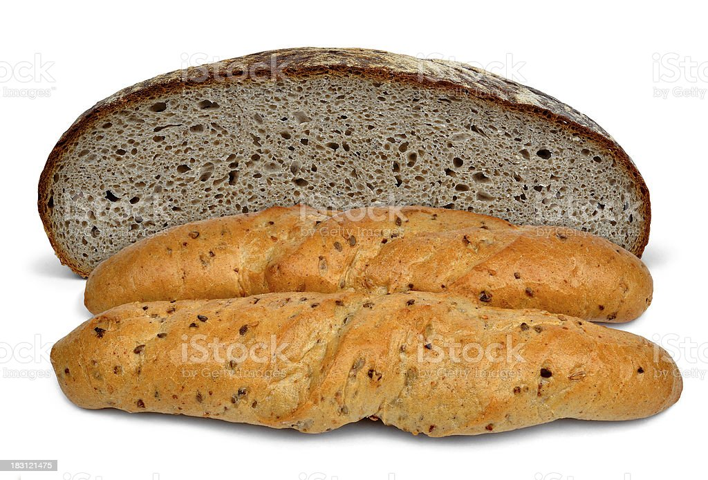 Wheat bread with whole-grain royalty-free stock photo