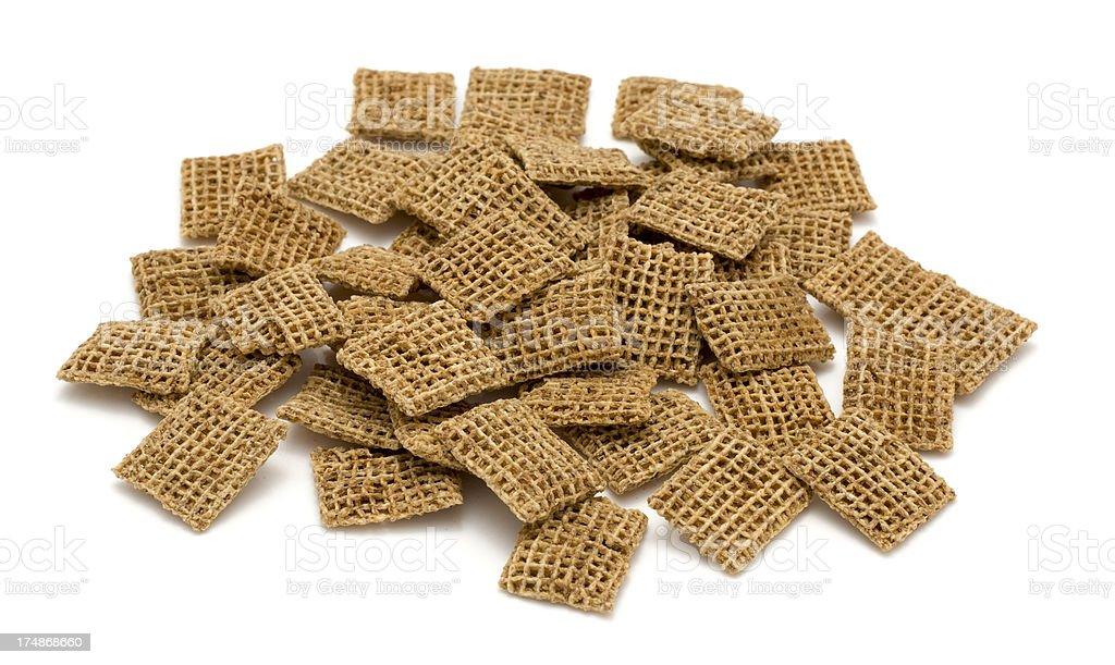 Wheat breakfast cereal heap stock photo