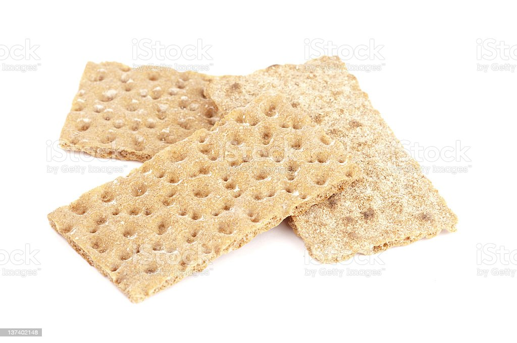 Wheat Cracker Breads stock photo