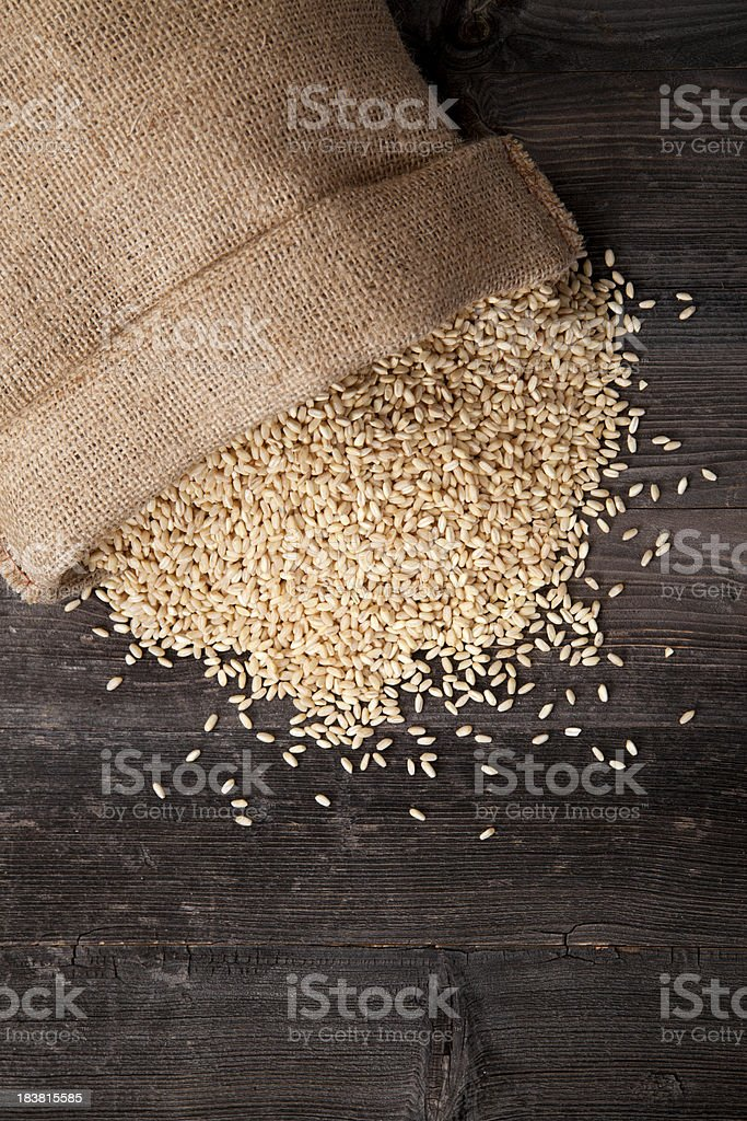 Wheat grains royalty-free stock photo