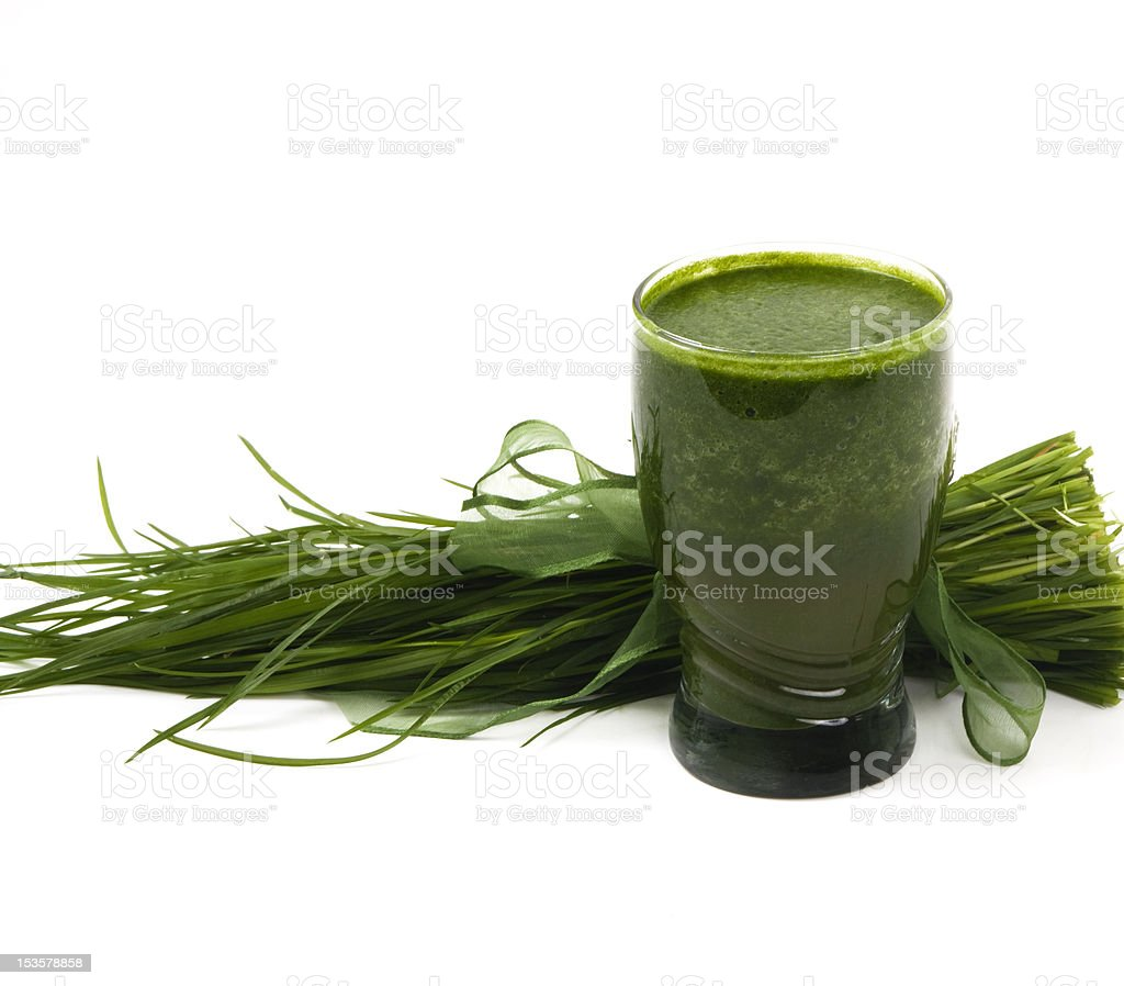 Wheat Grass Drink stock photo