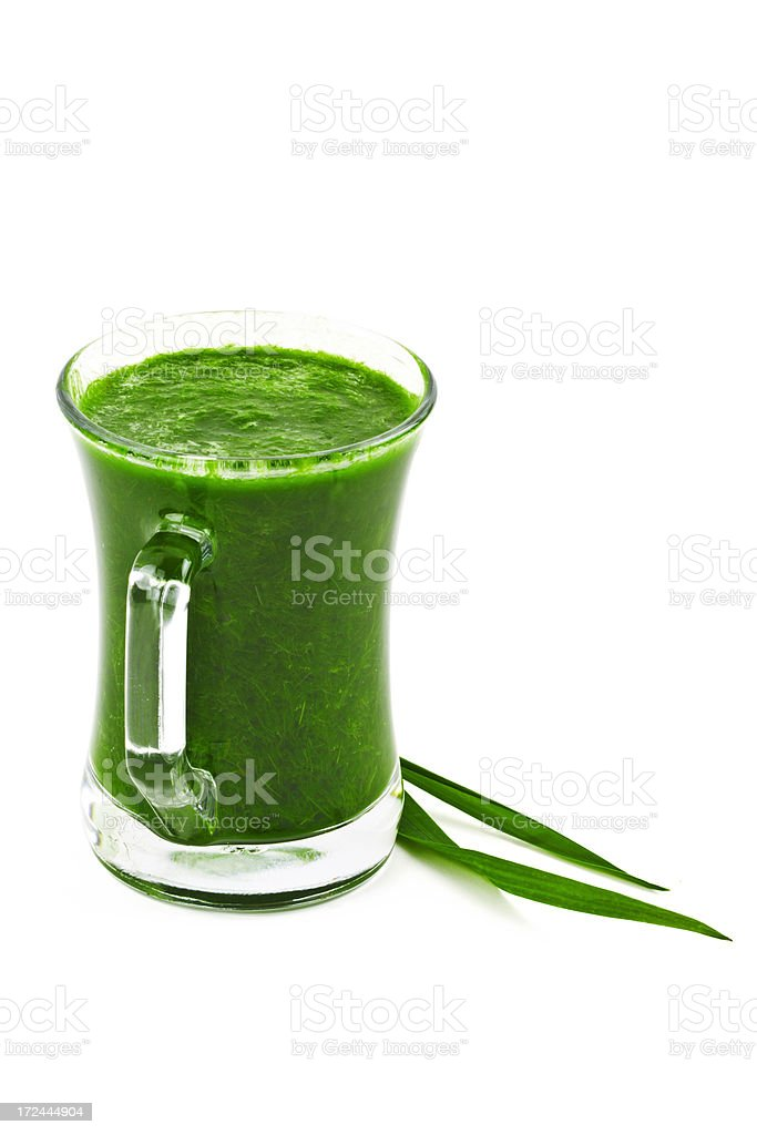 wheat grass juice stock photo