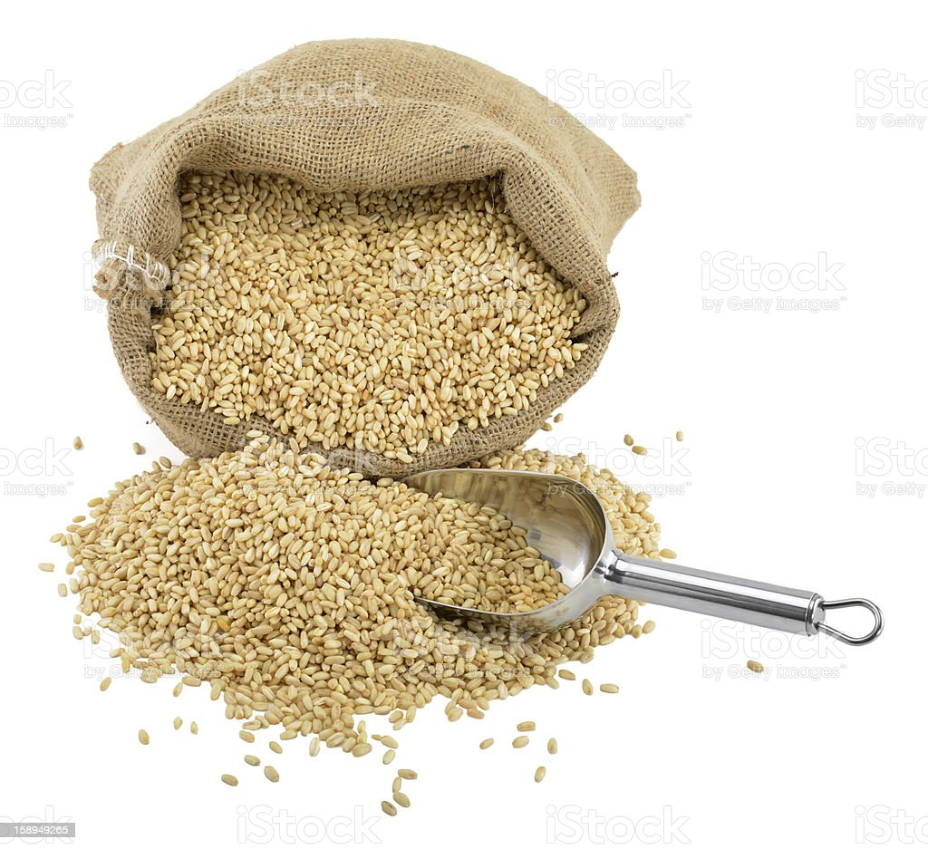 Wheat in Bag royalty-free stock photo