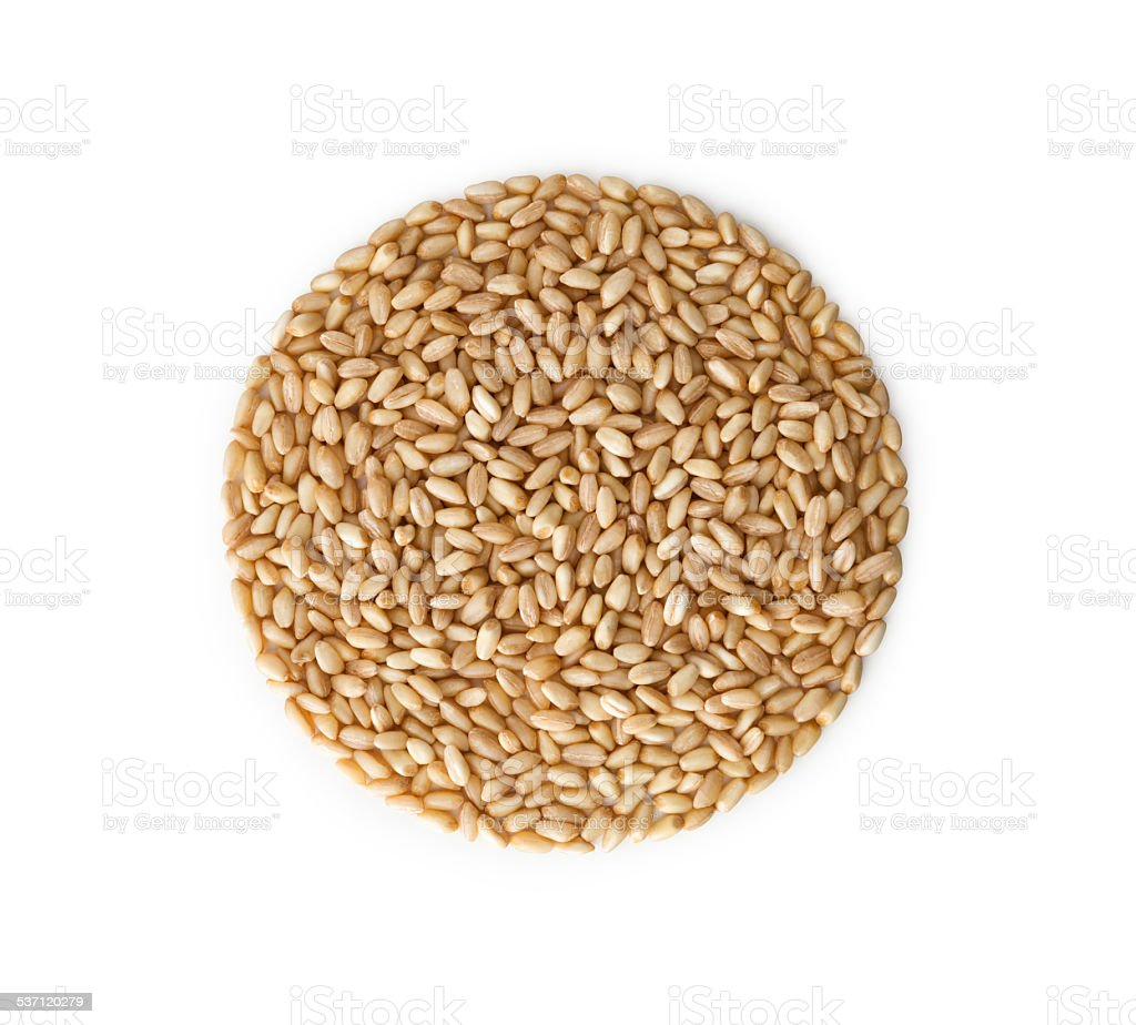 Wheat pile heap, isolated stock photo