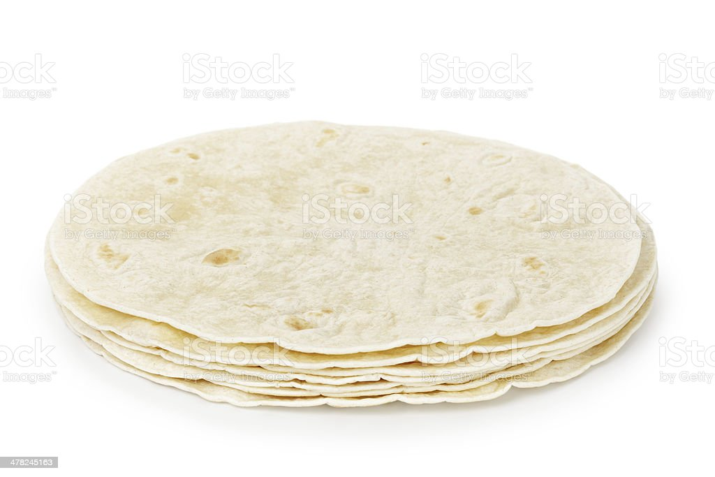 wheat round tortillas stock photo