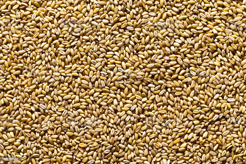 Wheat seeds background stock photo